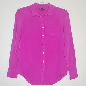 MADEWELL | 100% Silk Button Up Blouse Top SZ XS